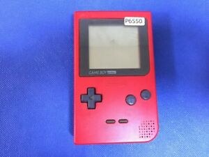 P6550-Nintendo-Gameboy-pocket-console-Red-GBP-Japan-Junk-For-parts-DHL