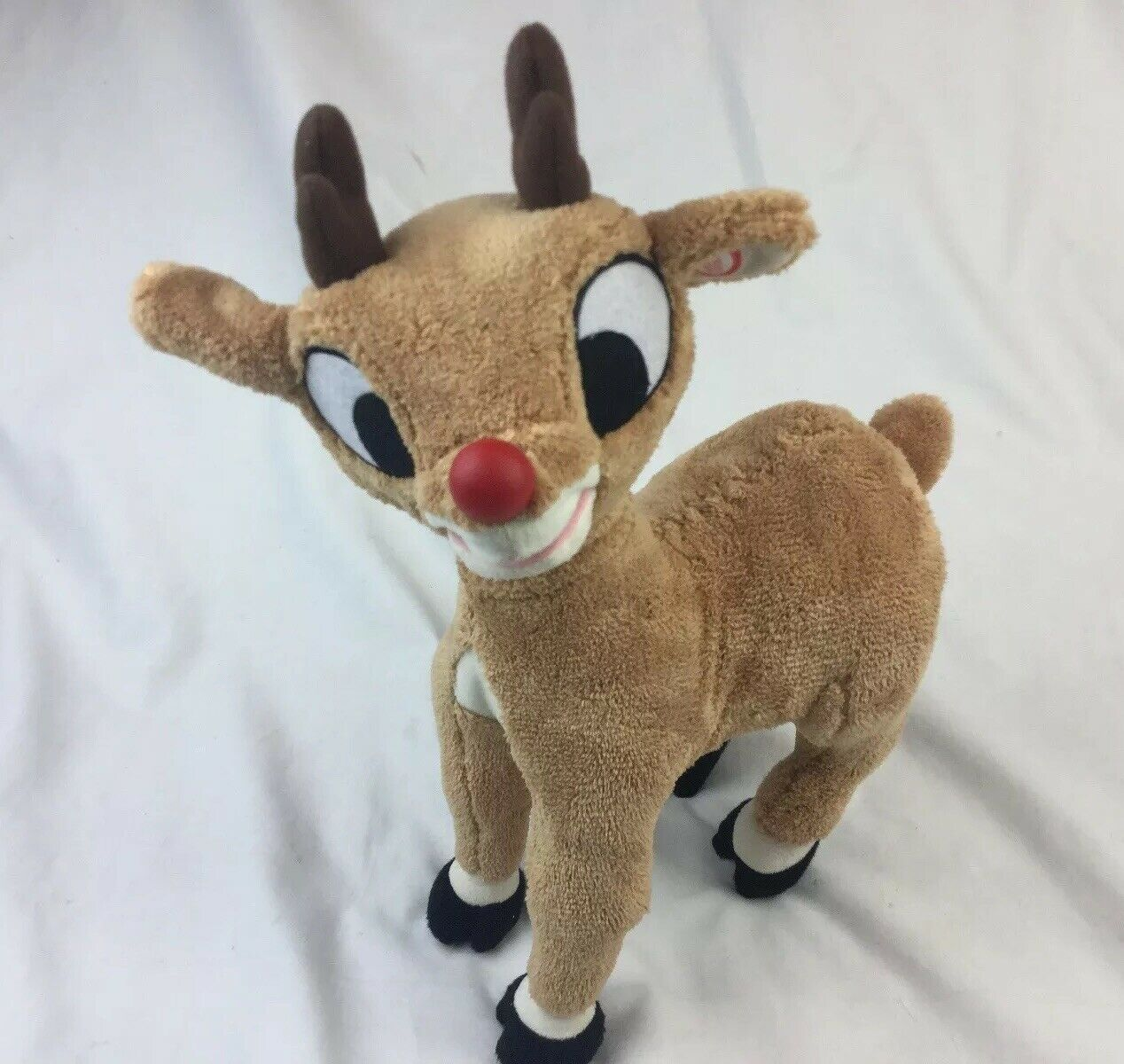 Gemmy Rudolph The rot Nosed Reindeer Talking Singing Animated Neck Moves FLAWS