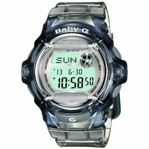 Casio-Baby-G-BG-169R-8-Transparent-Grey-Women-039-s-and-Girls-Digital-Sports-Watch