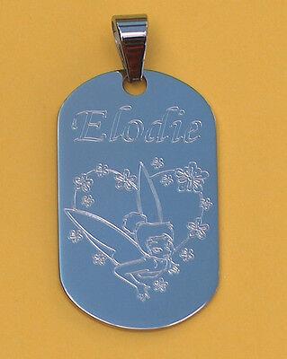 pendentif acier personnalisé gravé,gravure PSG paris boulogne+prénom au choix