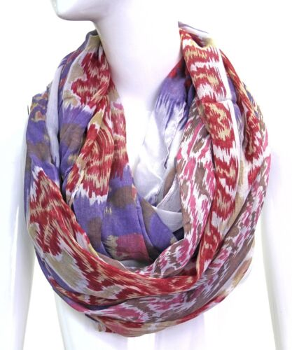 Scarfand/'s Ikat and Block Infinity Scarf