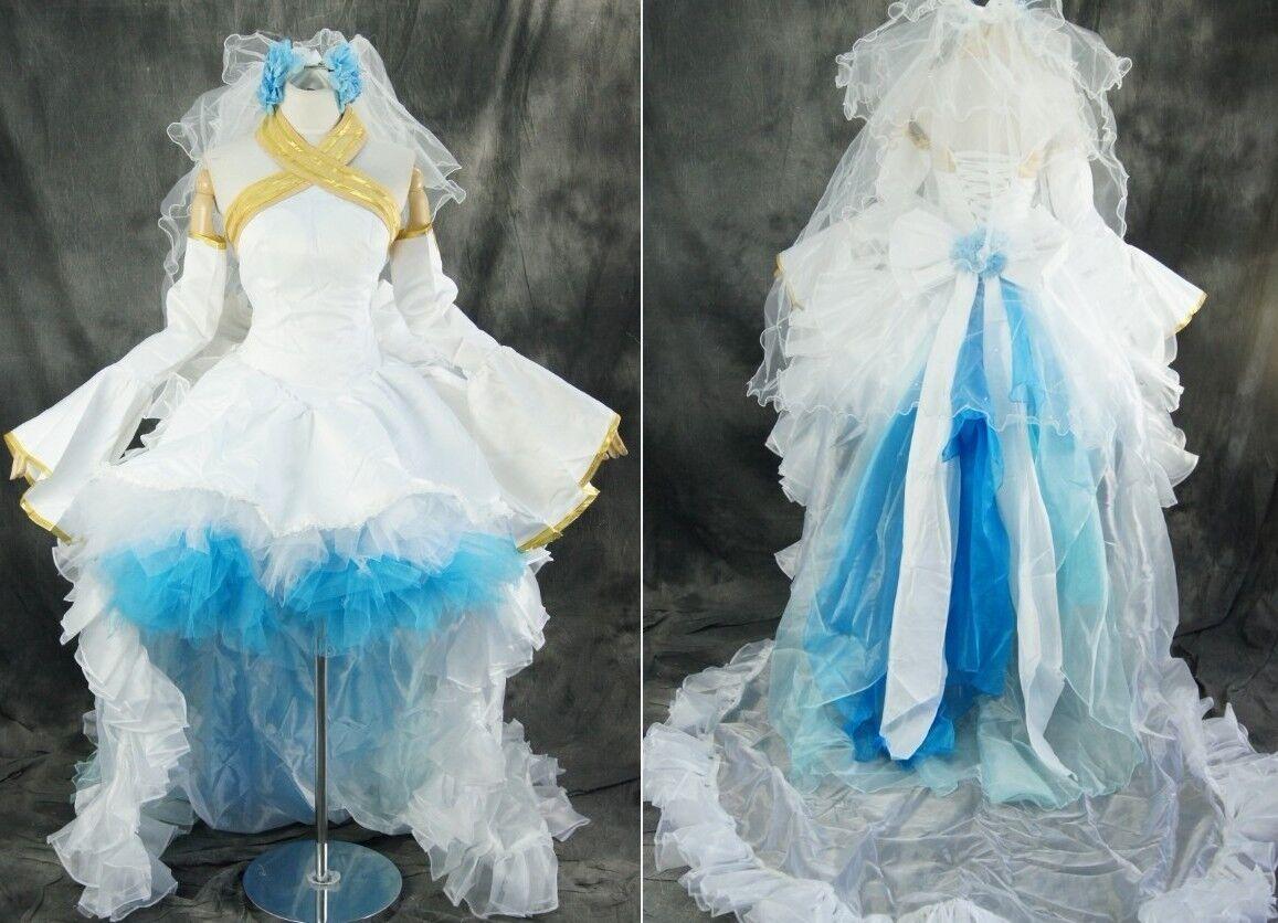 Le Le Le rythme cardiaque est pire que l'action! h-044 VOCALOID MIKU Bridal mariée cosplay robe sur mesure 1ad827