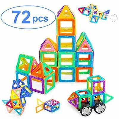 Lirs TOYS 72-pcs Magnetic Blocks Magnetic Tiles Building Blocks Set For