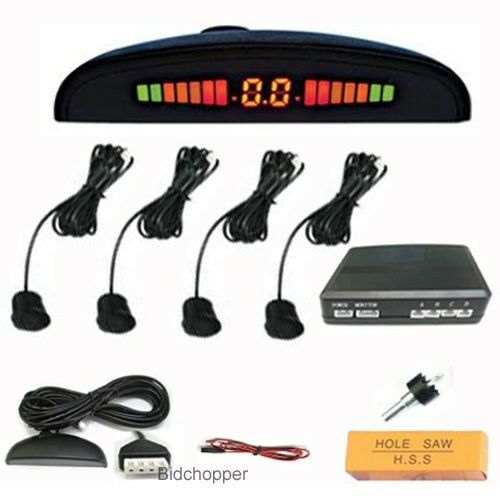 Car Reverse Parking system with 4 sensors & LED display