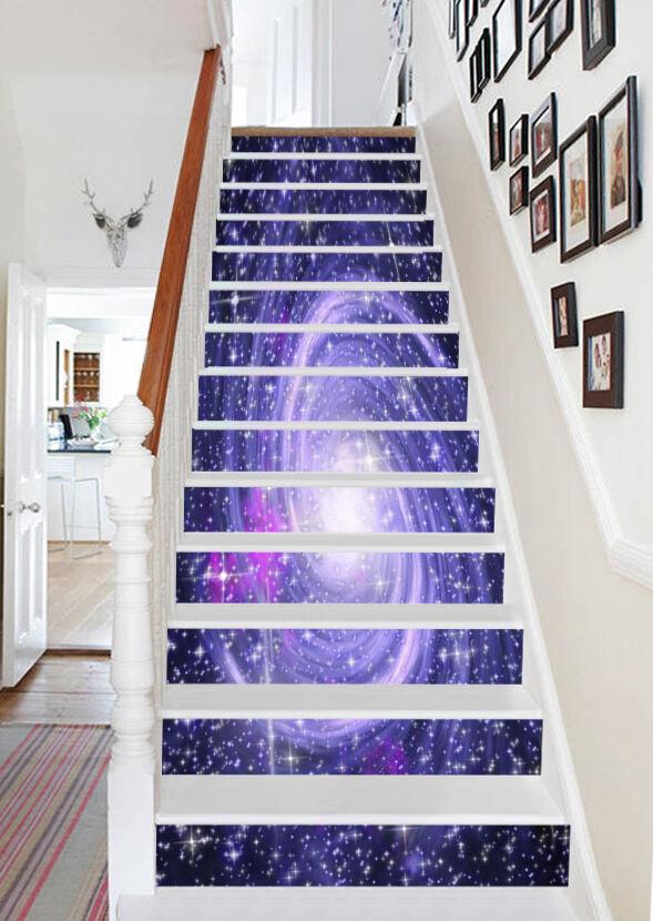 3D Bright Nebula 86 Stair Risers Decoration Photo Mural Vinyl Decal Wallpaper AU