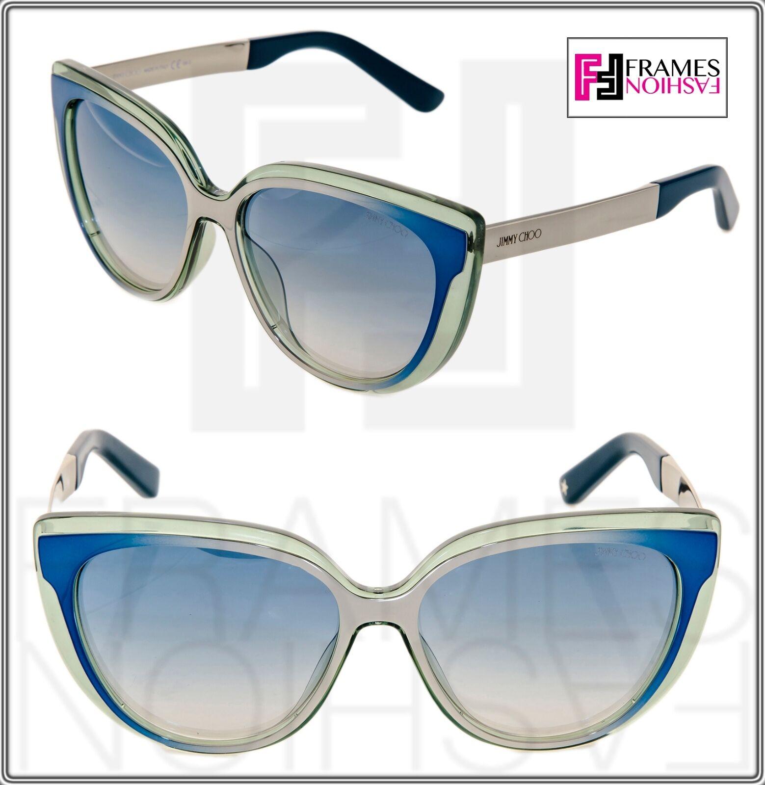 9ac0e48f8f Buy Jimmy Choo Sunglasses Cindy s 1q356 Azure Blue Mirror Authentic ...