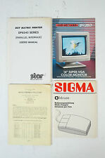 Sigma Mouse después Dot Matrix dp8340 sv28/3 owners esti Handb b2631