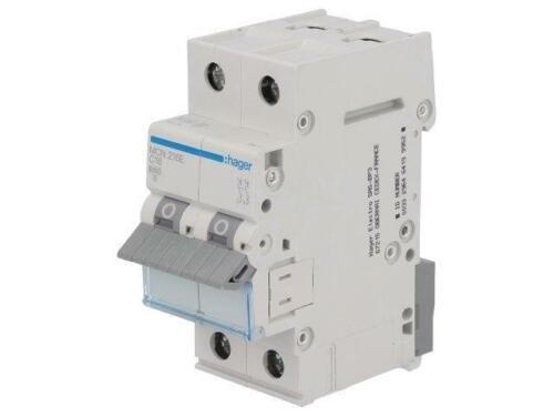 2 DIN Charakt 16A Pole C 6kA HAGER MCN216E Überstromschalter 400VAC lNenn