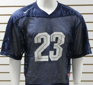 Men-039-s-Nike-Lacrosse-Practice-Jersey-23-Navy-White-Grey-Brand-New-With-Tag