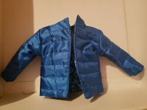 KEN DOLL CLOTHES FITS CURVY BARBIE AS WELL BLUE OVERSIZED PUFFER JACKET