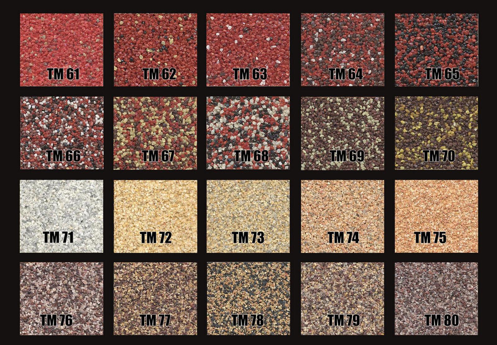Natursteinputz, Mosaikputz, Buntsteinputz 15 kg Eimer
