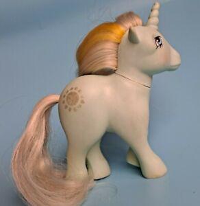 ❤️My Little Pony MLP G1 Vtg SUNBEAM 1983 Unicorn Aqua Silver Yellow Sun Beam❤️