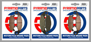 Front & Rear Brake Pads (3 Pairs) for Kawasaki GPX 250 R 1988