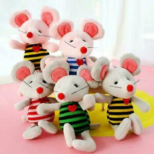 Cartoon-Soft-Plush-Mice-Toy-Doll-Key-Chain-Keyring-Toy-Stuffed-New-Bag-Mous-G4I6