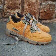 UK 3 Nike Air Max 90 Winter Wheat Pack GS Trainers EUR 35.5 US 3.5Y Brown Green