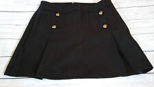 EXPRESS Skirt Black A Line Pleated Mini Skirt Pockets Size 12