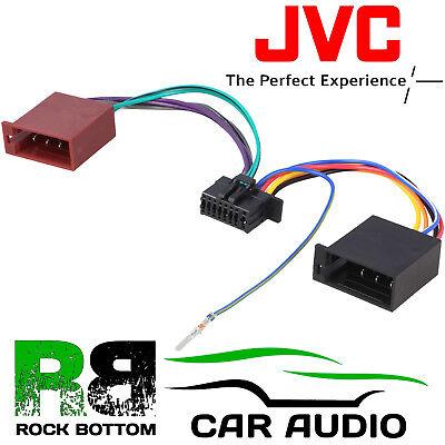 Jvc Kd R481 Car Radio Stereo 16 Pin Wiring Harness Loom Iso Lead Adaptor Ebay