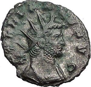 Gallienus-Valerian-I-son-265AD-Authentic-Rare-Ancient-Roman-Coin-Mars-i55899