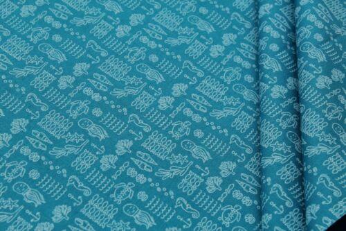 """100/% de prima algodón acolchado 44/"""" Sirena Caballito de mar océano Perla estrellas anclas"""