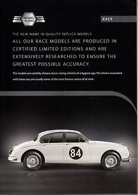 Eerzuchtig Fascicule Depliant 2 Pages Model Icons Race Jaguar Mk2 3.8 Scale 1/18