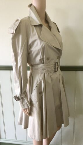 "Beige Cotton ""OMO NORMA KAMALI"" Trench Coat size 4"