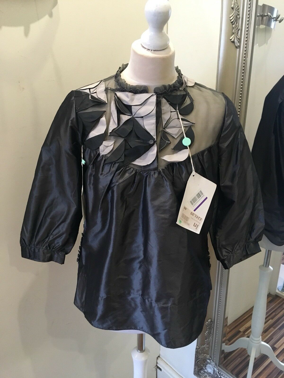 Designer Y And Kei Water The Earth Silk Top New With  Tag Attached