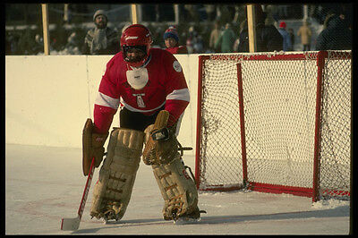 206035 Goaltender Hockey Winterlude A4 Photo Print Meticulous Dyeing Processes Art