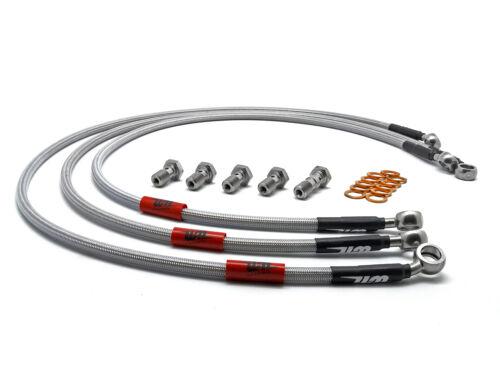 Wezmoto Stainless Steel Braided Brake Hoses Lines BMW E34 Rear discs FULL KIT