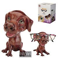Optipaws Chocolate Labrador Dog Figurine Glasses Holder NEW in Gift Box - 24323