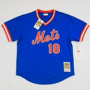 Mitchell /& Ness Darryl Strawberry Authentic Mesh BP Jersey New York Mets 1986