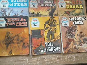 Six-War-Picture-Library-Comics-1057-1059-1065-1106-1118-1138