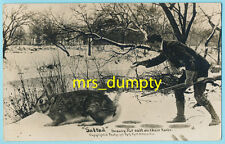 EXAGGERATION RPPC by Martin ~ Hunting Salted Rabbit  ~ Real Photo POSTCARD