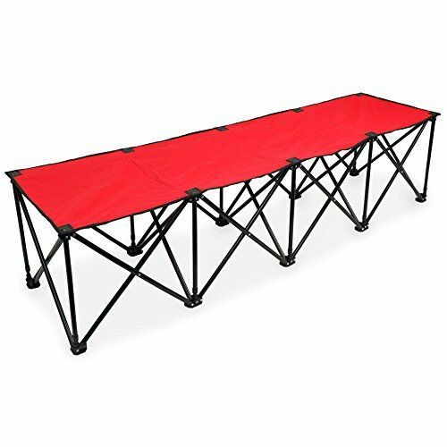 Crown Sporting Goods 4-seat Sideline Bench Portable /& Folding with Carry Bag