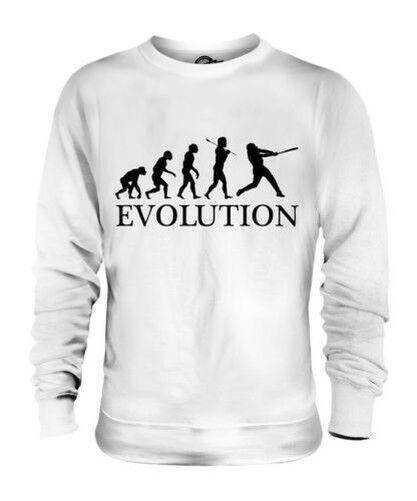 BASEBALL EVOLUTION OF MAN UNISEX SWEATER  Herren Damenschuhe LADIES GIFT BAT BALL JERSEY