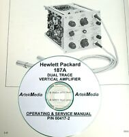 Hp Hewlett Packard 187a Dual Trace Vertical Amp Operating & Service Manual