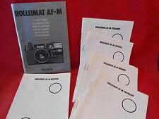 Bedienungsanleitung Rolleimat AF-M ca. 9x14