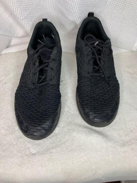 Nike Roshe NM Flyknit SE 11.5 Triple Black (816531 001)