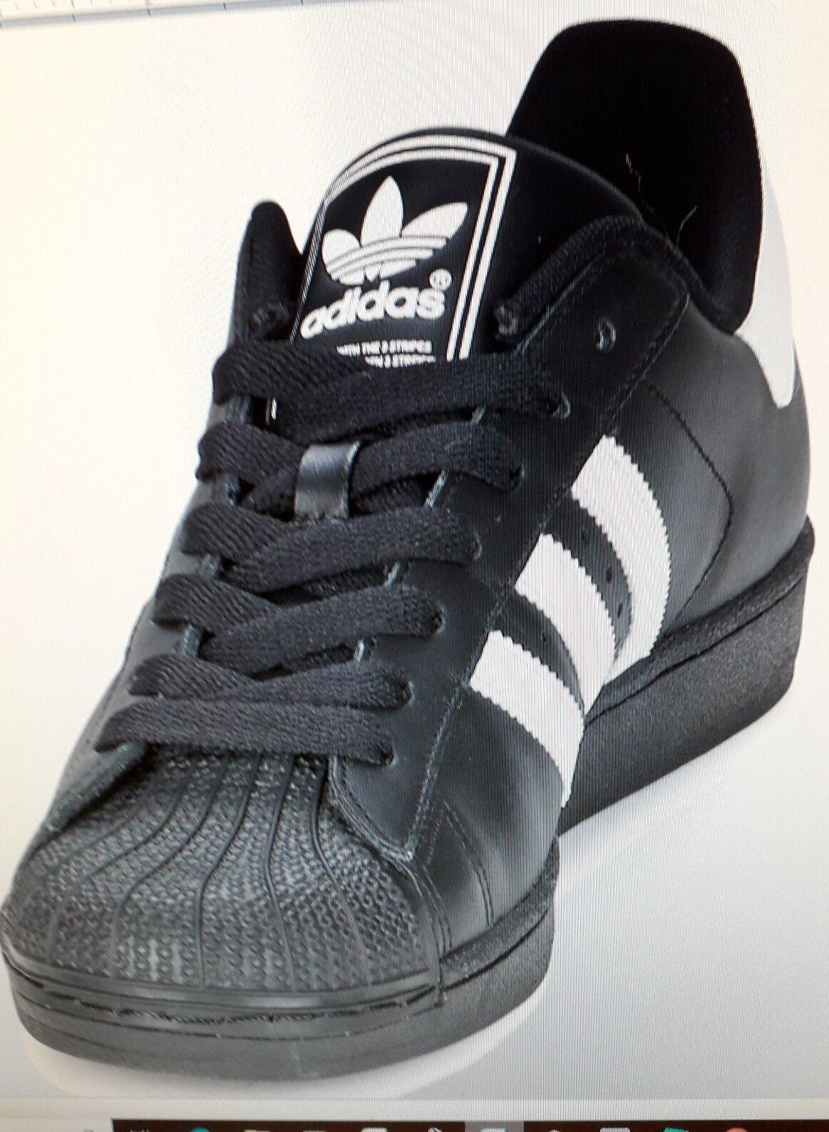 Adidas Super S Trainers BLK WHT size 11