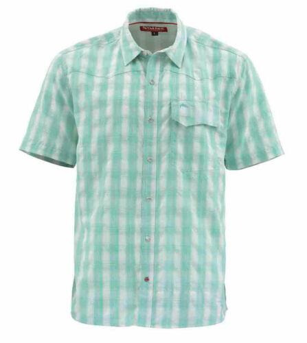 Simms Big Sky shirt à manches courtes-Bahamas Plaid-MEDIUM-Vente /& Free nous Livraison