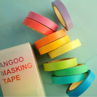 Washi Tape Adhesive Craft Cute Candy Color  DIY Roll Decorative Sticky 10PCS Hot