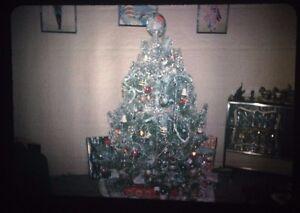 Vintage Christmas tree 35 mm slides tinsel color lot 2 ...