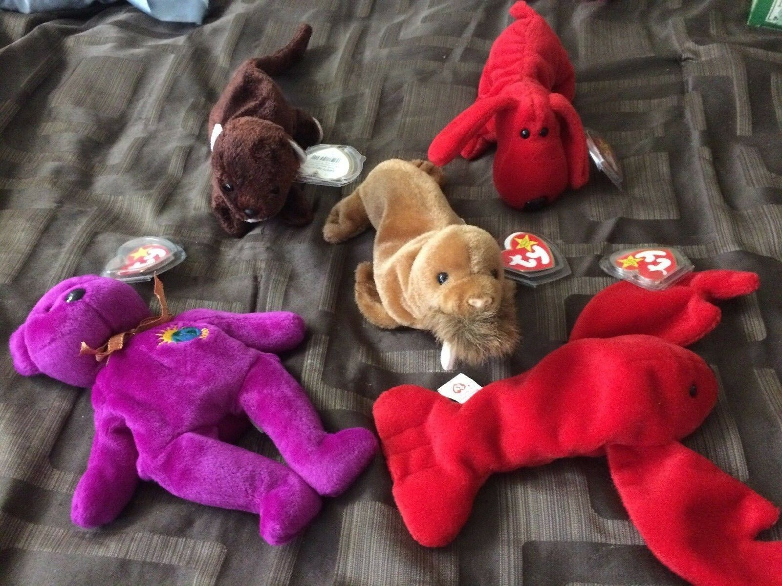 TY Beanie Babies Babies Babies - Mixed Lot of 5 Beanies No Duplicate, All New some rare c38fe4