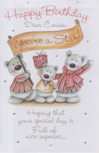 Extra Large Happy Birthday Dear Cousin Card