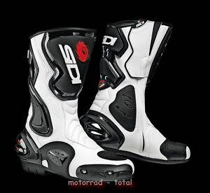 NEU-SIDI-Motorradstiefel-Cobra-schwarz-weiss-Gr-46-NEU-Racing-Stiefel-NEW