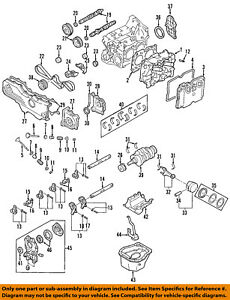 subaru oem 00 04 outback engine cylinder head gasket 11044aa633 ebay rh ebay com KA24E Engine Diagram EJ257 Engine Diagram