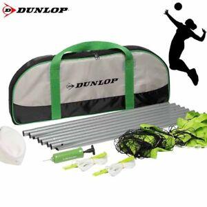 Dunlop Pallavolo Set in Borsa con Rete Palla Pompa - Nero/Verde/Grigio