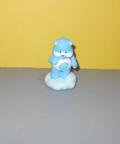 "3/"" Vintage 1983 American Greetings Care Bears Ceramic Grumpy Bear Figurine"