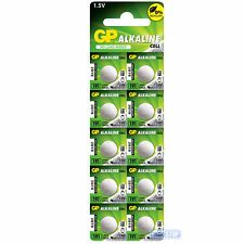 10 x LR55 GP 1.5V Alkaline Button Cell Watch Battery 191, AG8, SG8, 381, LR1121