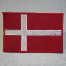 Denmark  National Flag . Sew on Patch  (7.0cm x 4.7cm)