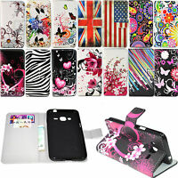 Flip Magnet Stand PU Leather Card Wallet Phone Case Cover For Samsung Galaxy J3